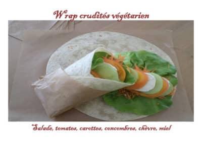 Wrap crudités végétarien